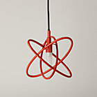 Red Electron Ceiling Lamp