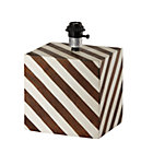 Modern Cube Stripe Table Lamp Base