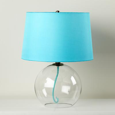 Crystal Ball Table Lamp (Aqua)