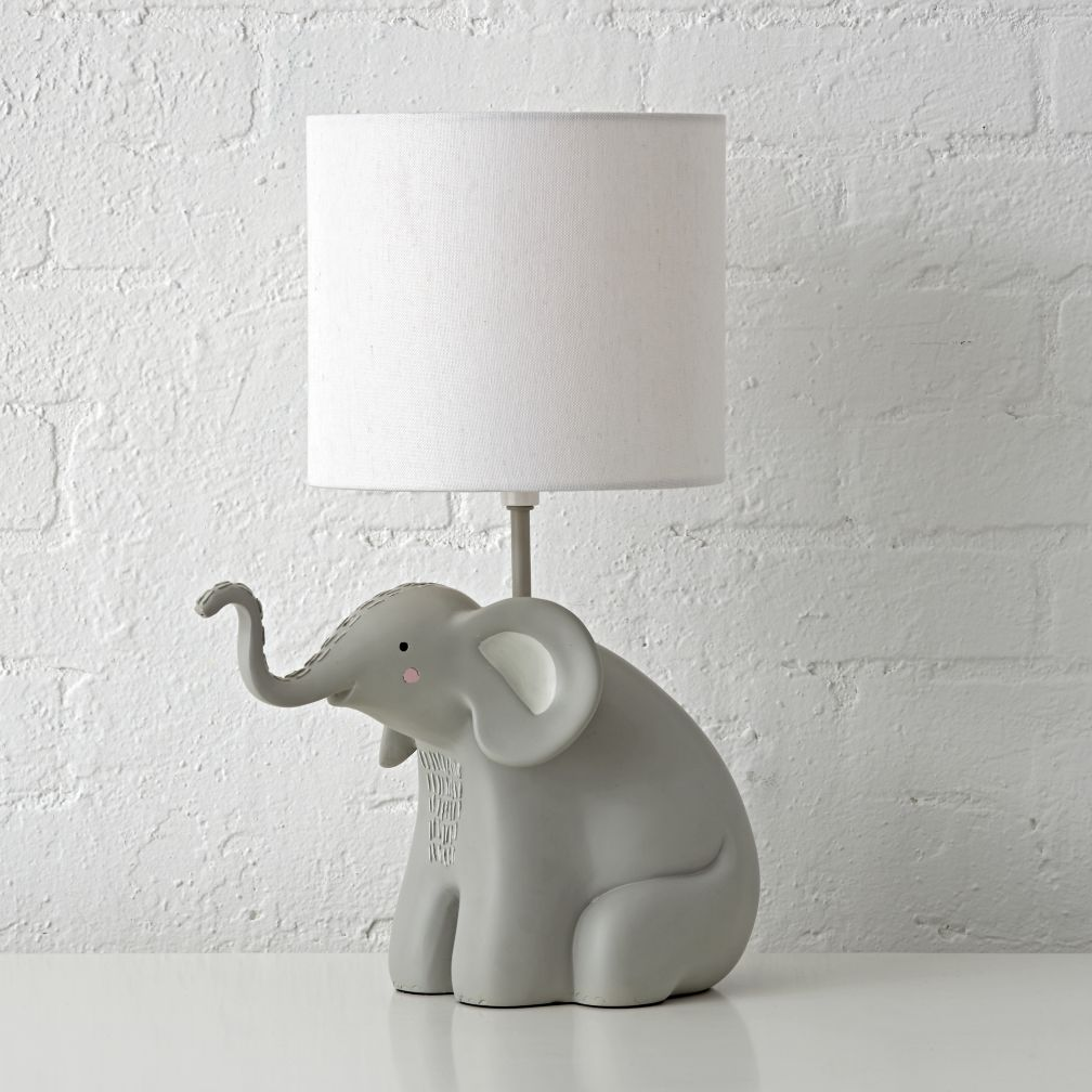 Kids table bedside lamps the land of nod elephant table lamp geotapseo Images