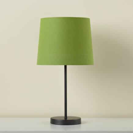 Kids Lighting Graphite Table Lamp Base With Green Fabric Shade Light Years