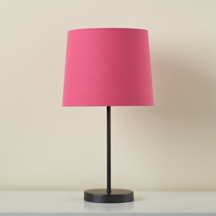 Kids Lighting Table Lamp Base With Fabric Shade Hot Pink Light Years