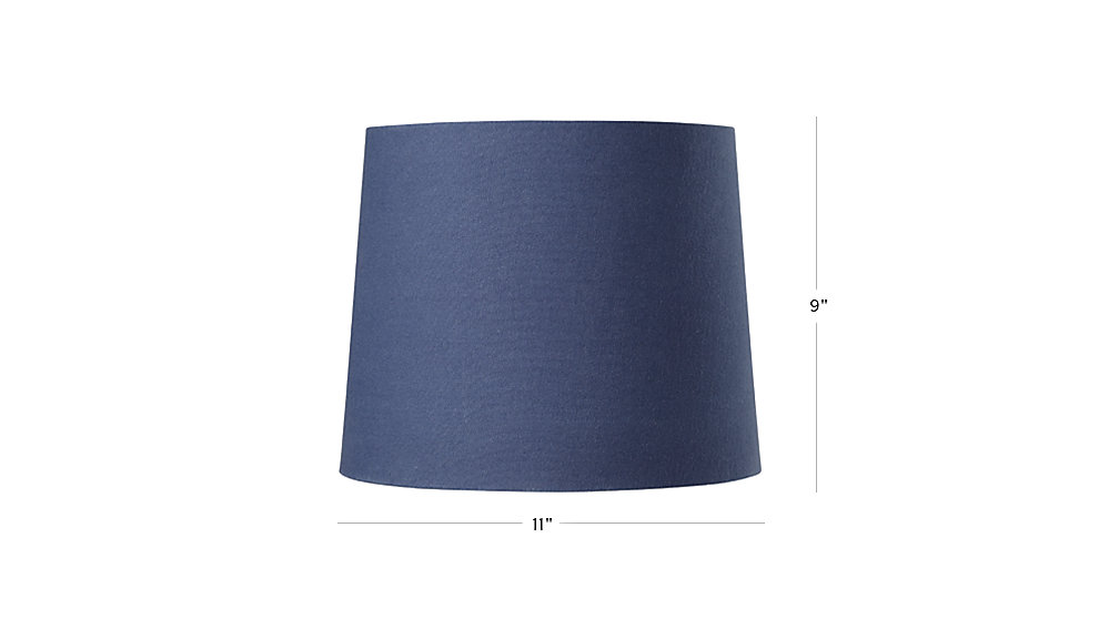 mix and match dark blue table lamp shade the land of nod. Black Bedroom Furniture Sets. Home Design Ideas