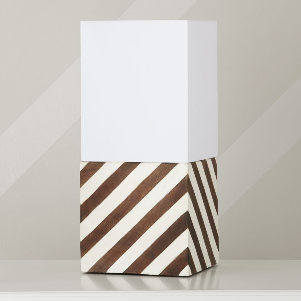 . Modern Cube Table Lamp   The Land of Nod