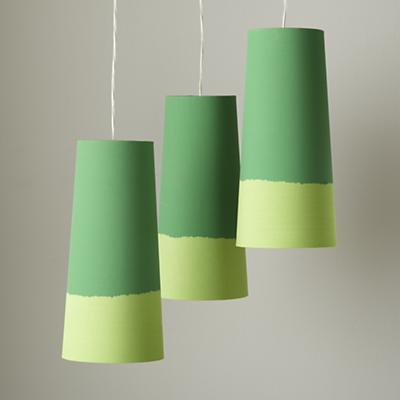 Set of 3 Lighten Up Pendant Lamps (Green)