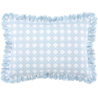 Blue Lattice Ruffle Sham