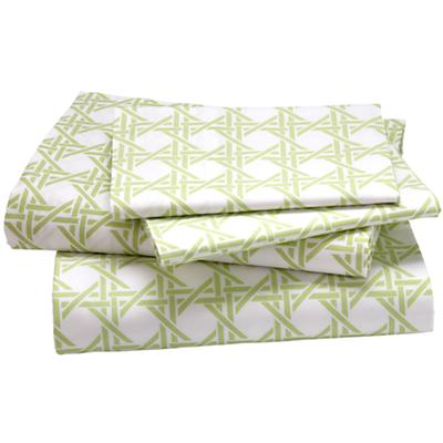 Green Lattice Sheet Set (Queen)