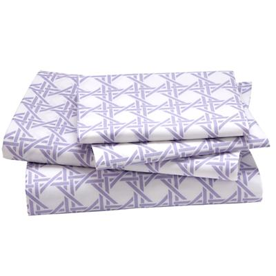 Full Lavender Lattice Sheet Set