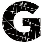G Black and White Letter