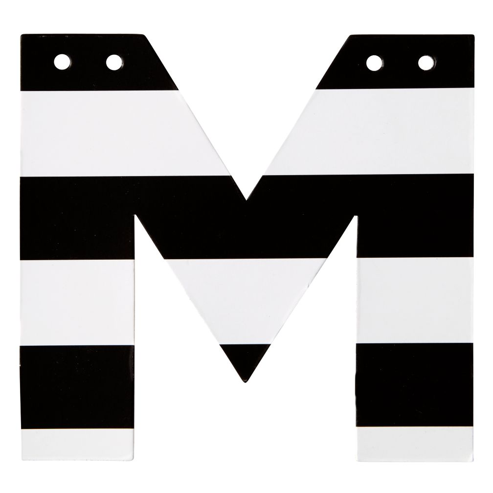 M Black and White Letter