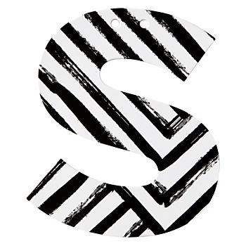 S Black and White Letter