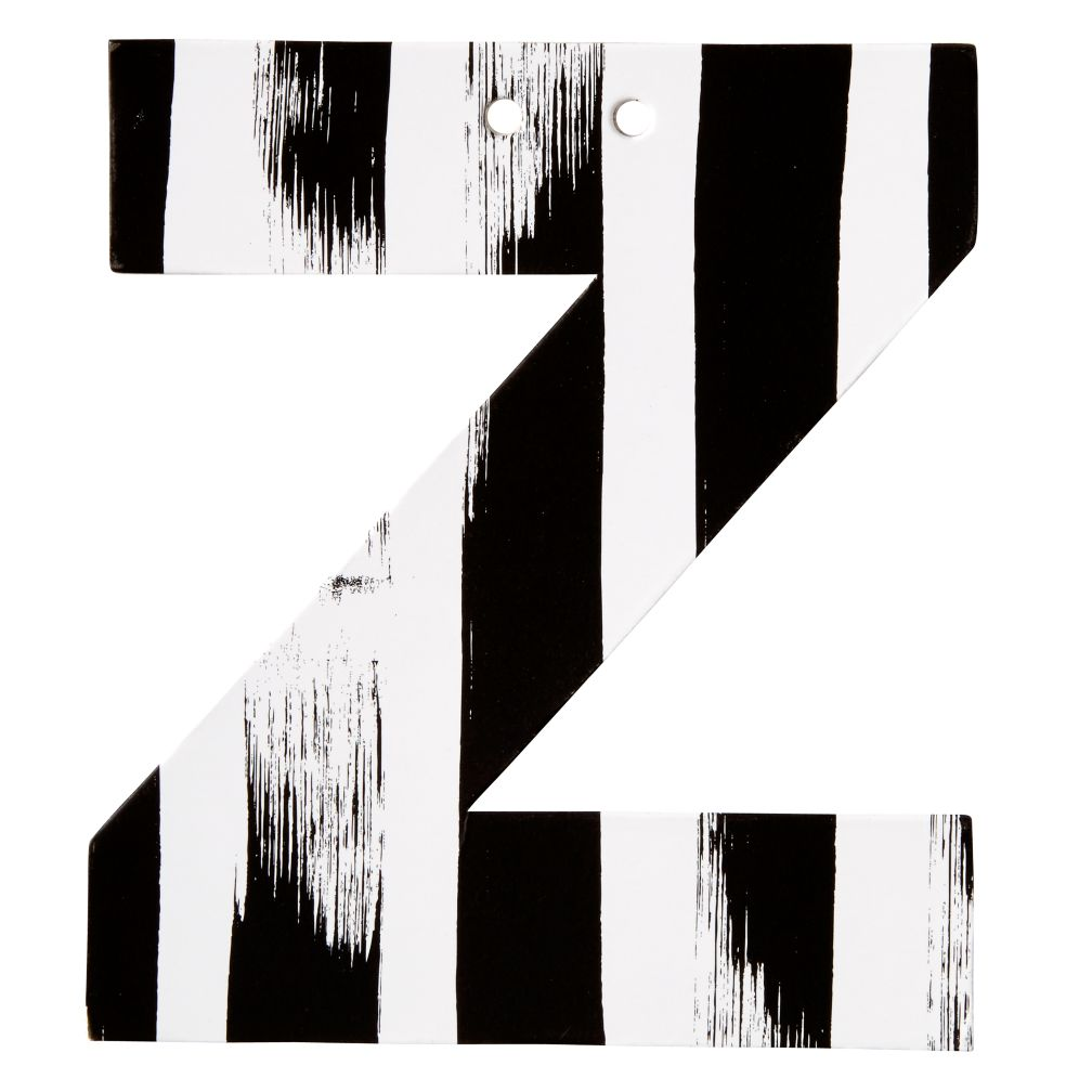 Z Black and White Letter