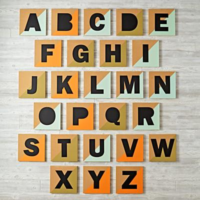 Colorblock Corkboard Letter