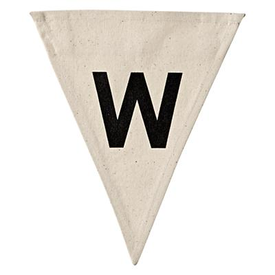 W Bold Type Flag Letter