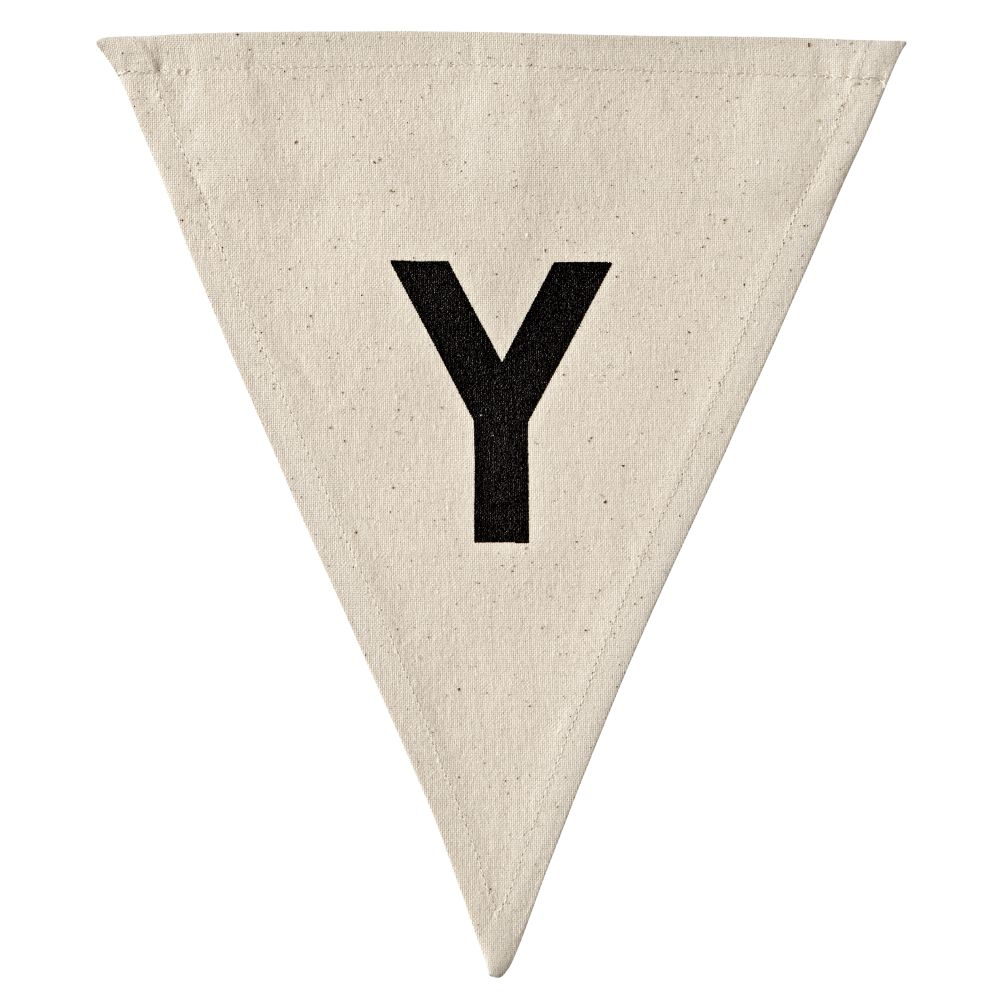 Y Bold Type Flag Letter