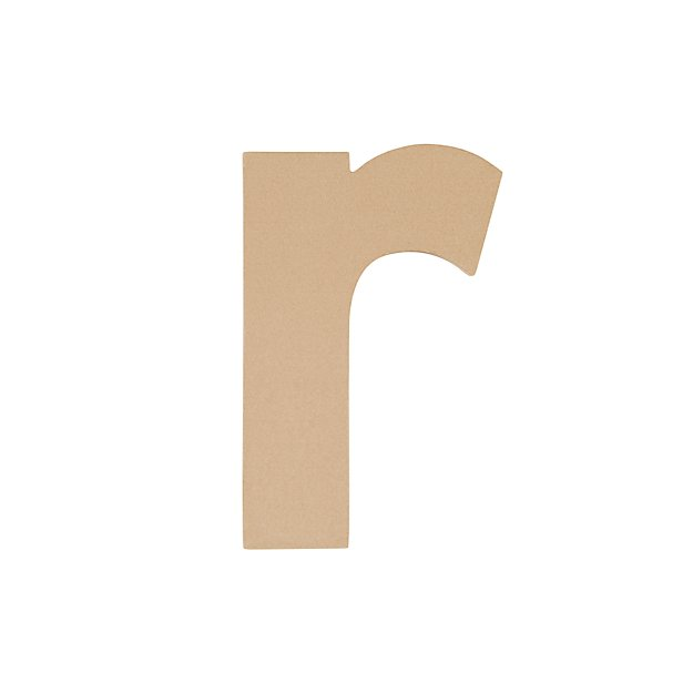 Large R Crafty Kraft Paper Letter