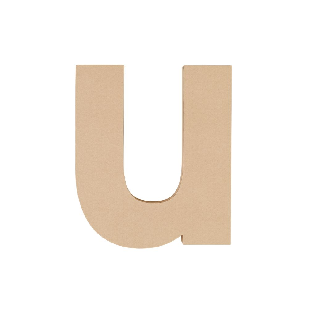 Large U Crafty Kraft Paper Letter