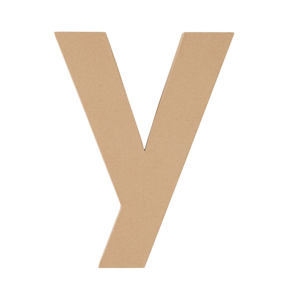 Large Y Crafty Kraft Paper Letter
