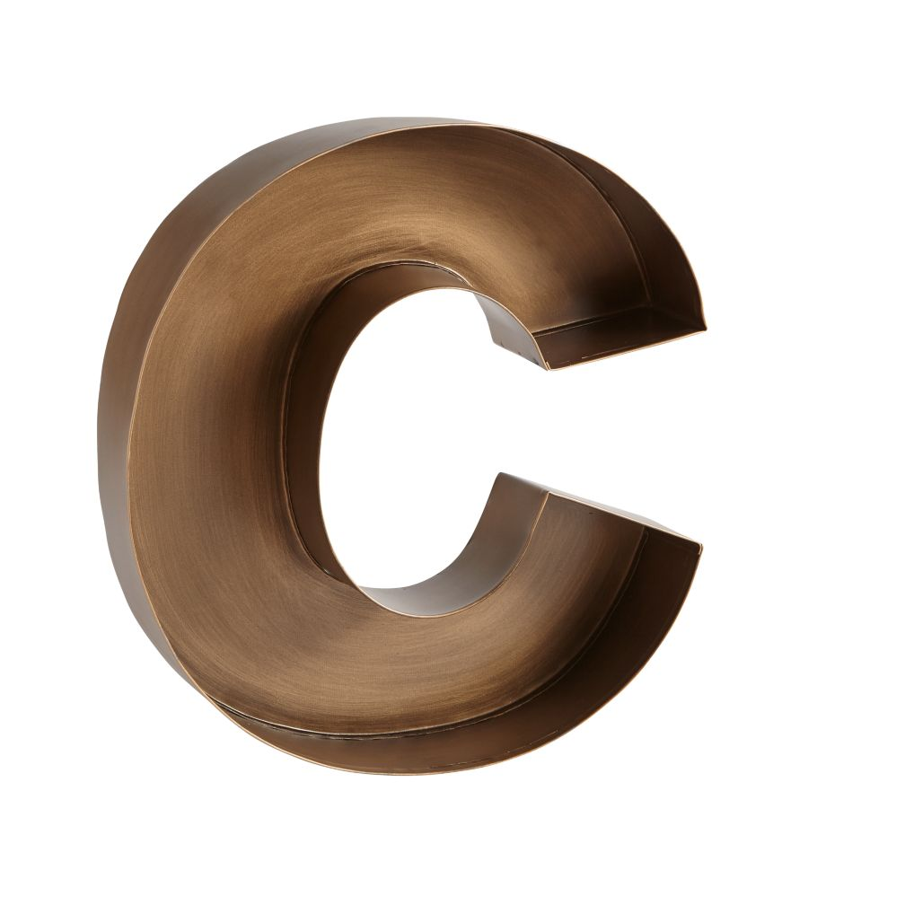 C Magnificent Metal Letter