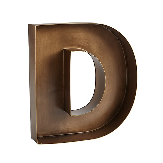 D Magnificent Metal Letter