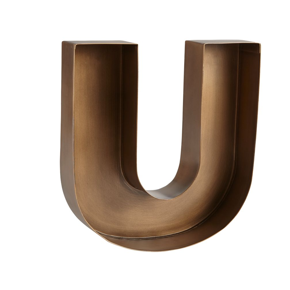 U Magnificent Metal Letter