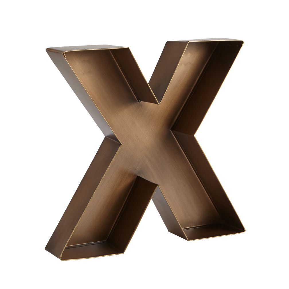 X Magnificent Metal Letter