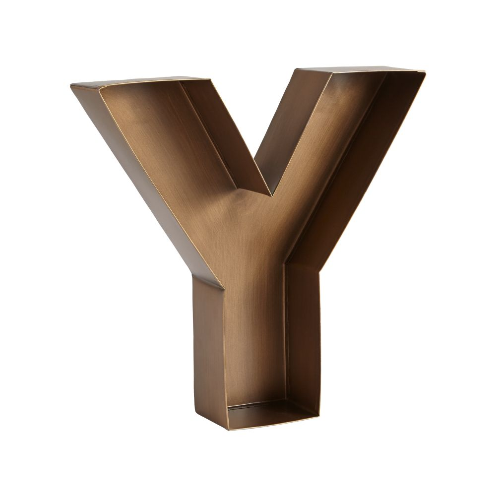 Y Magnificent Metal Letter