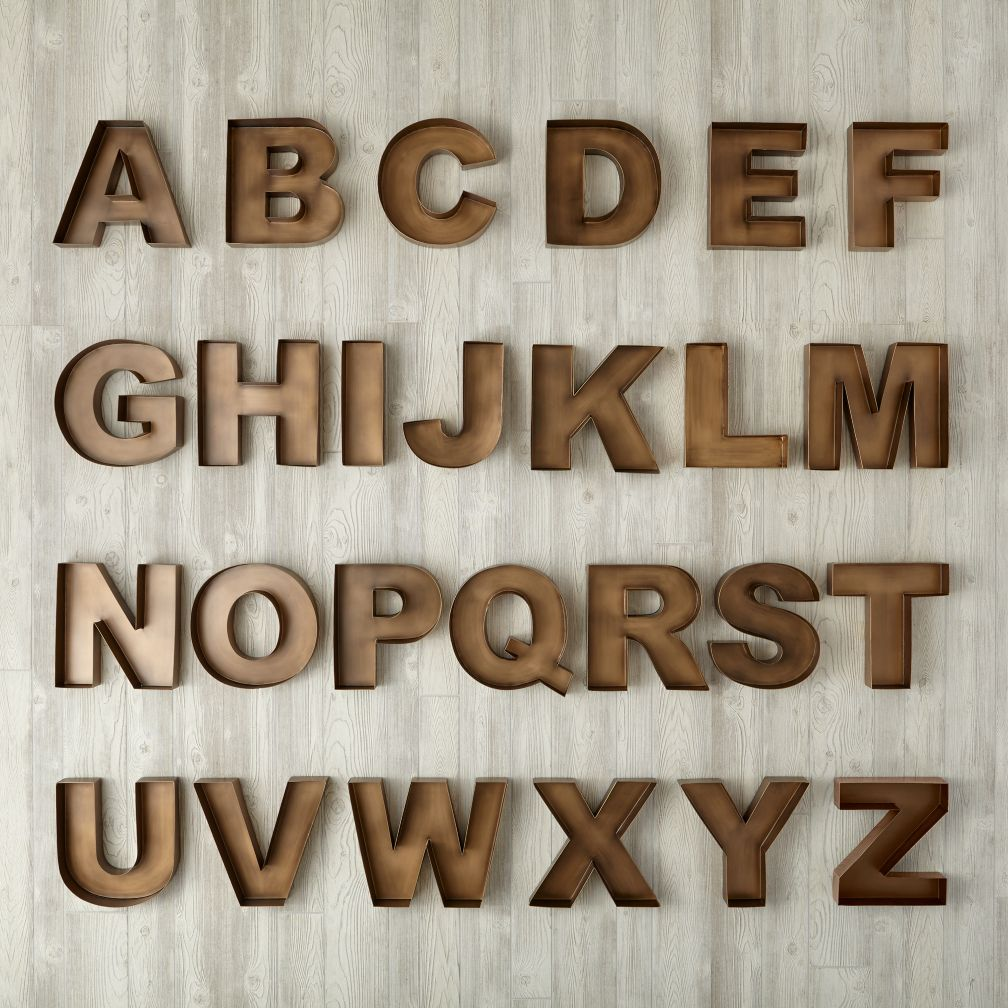 Tin Letters With Lights Amusing Metal & Wood Wall Letters  The Land Of Nod Design Decoration
