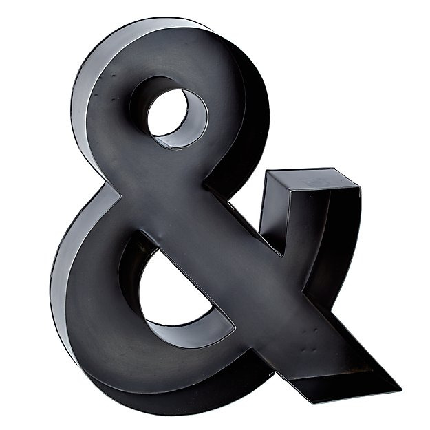 Magnificent Metal Ampersand