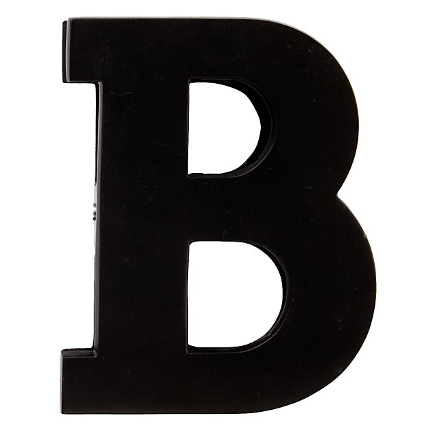 B Typeface Wall Clip