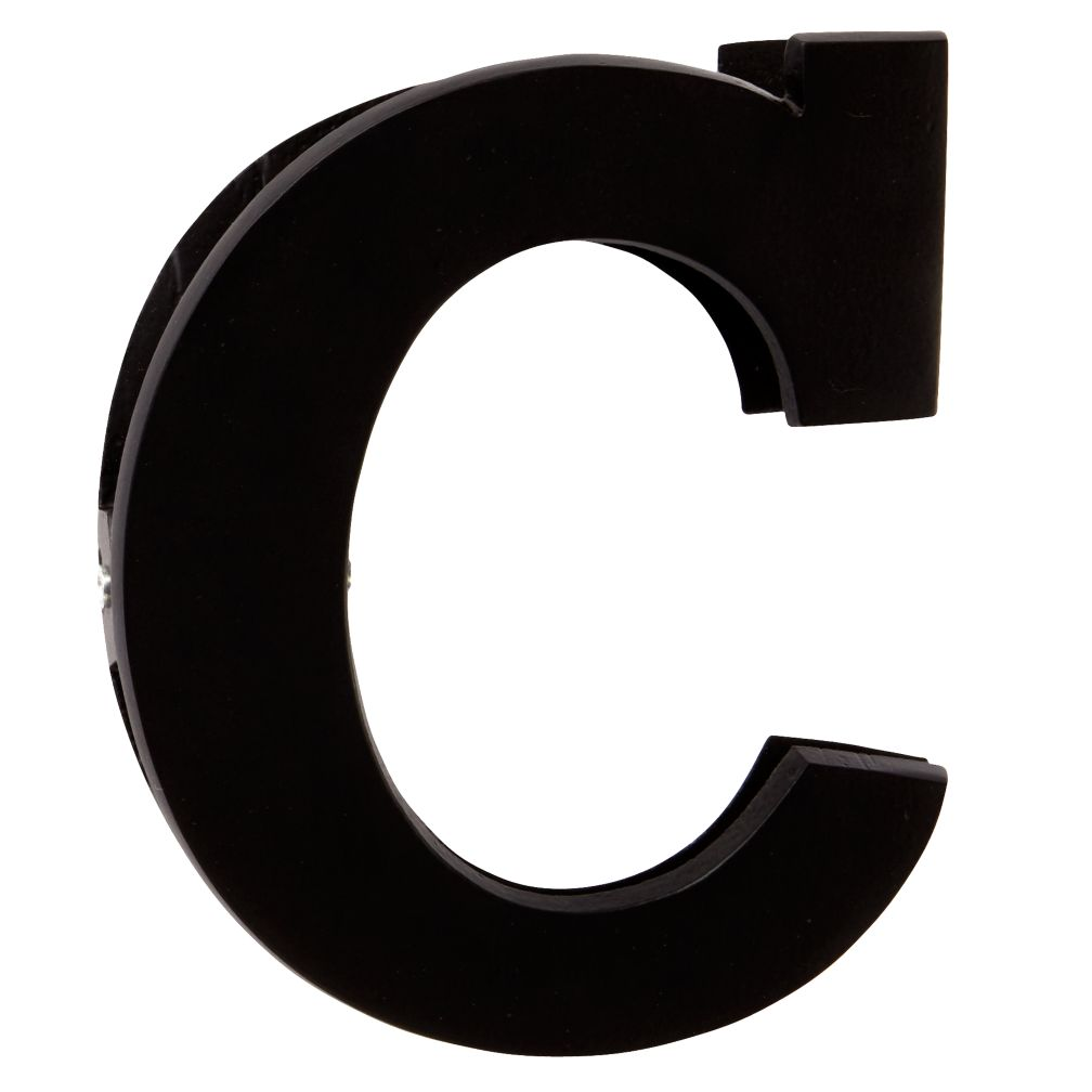 C Typeface Wall Clip