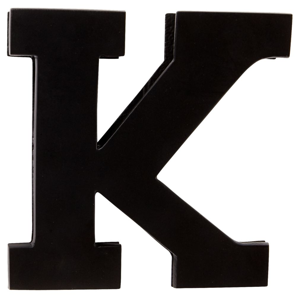 K Typeface Wall Clip