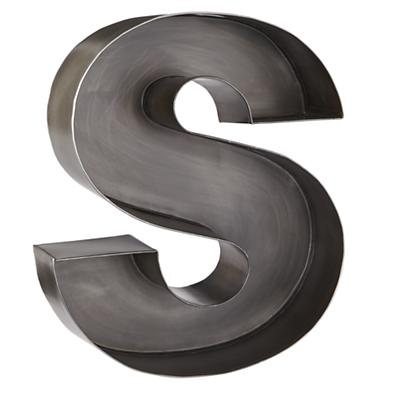 S Magnificent Metal Letter