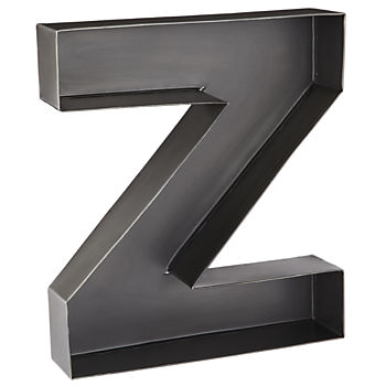 Z Magnificent Metal Letter