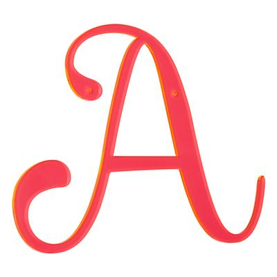 'A' Neon Calligraphy Letter