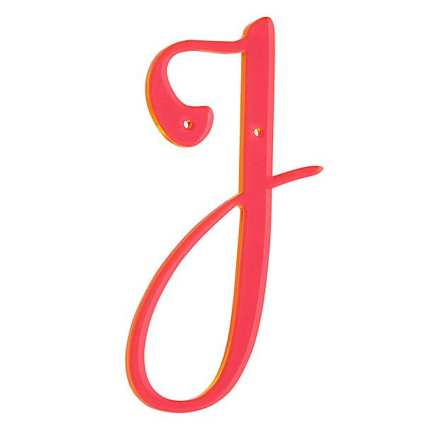 'J' Neon Calligraphy Letter