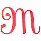 M Neon Calligraphy Letter.