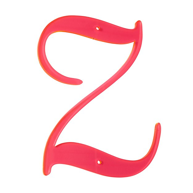 'Z' Neon Calligraphy Letter
