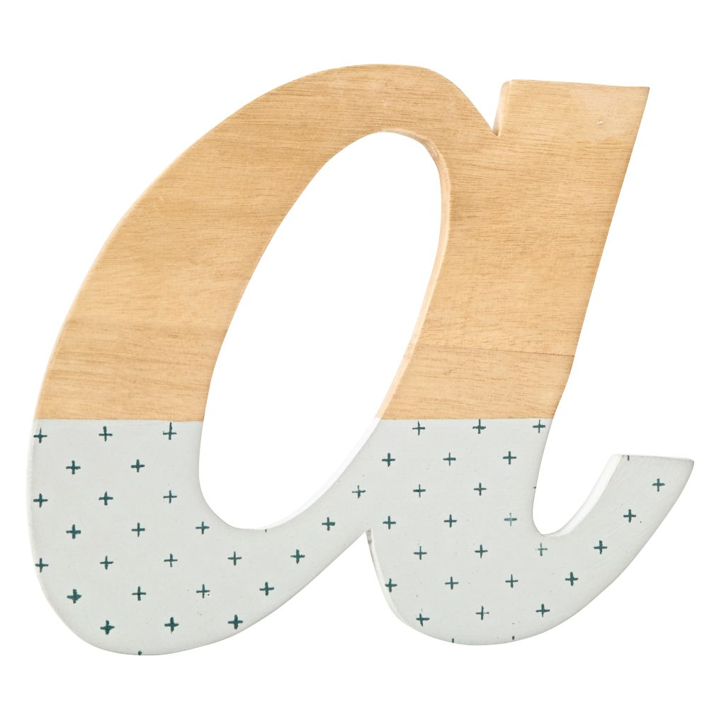 a Pattern Dipped Wall Letter