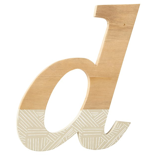 d Pattern Dipped Wall Letter