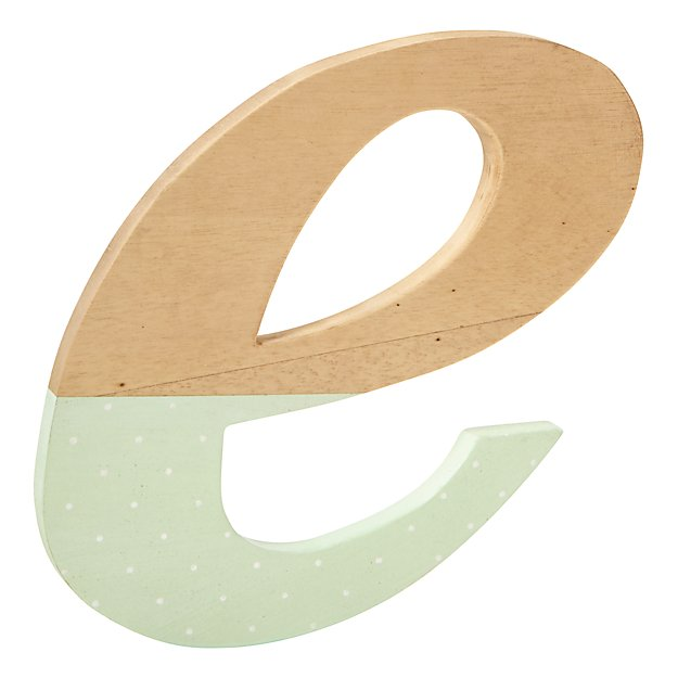 e Pattern Dipped Wall Letter