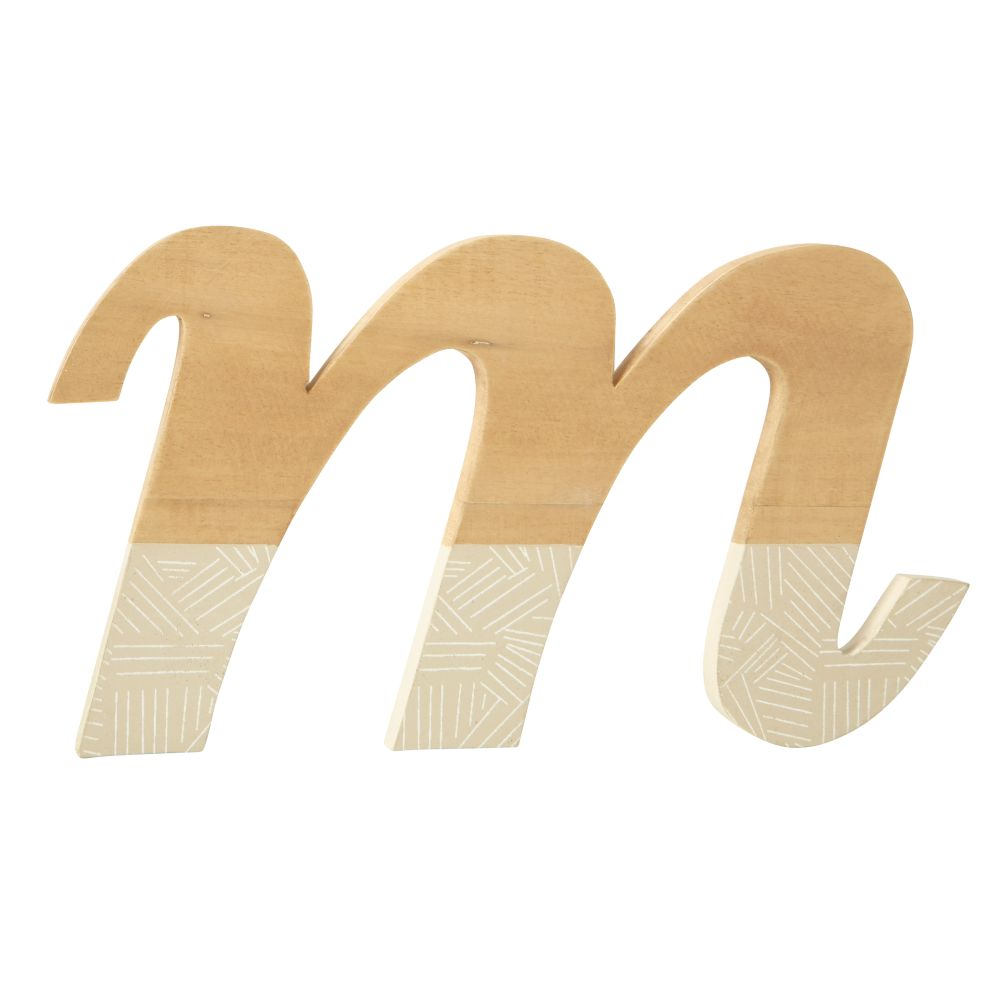 m Pattern Dipped Wall Letter