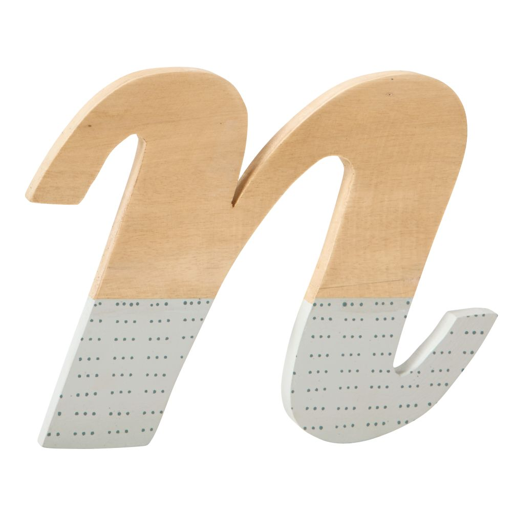 n Pattern Dipped Wall Letter