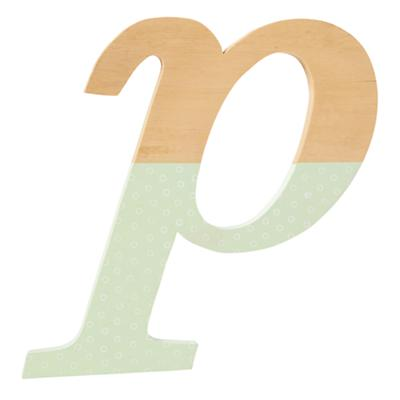p Pattern Dipped Wall Letter