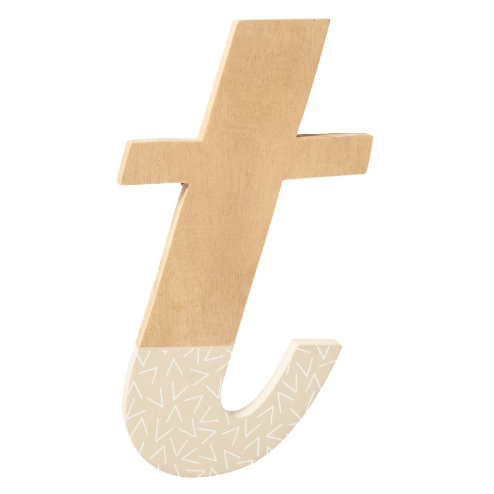t Pattern Dipped Wall Letter