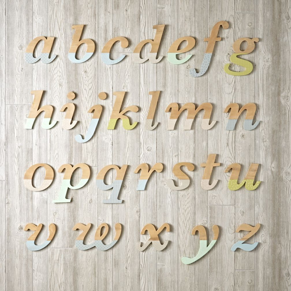 Pattern Dipped Wall Letters