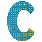 'C' Perfect Pattern Boy Letter
