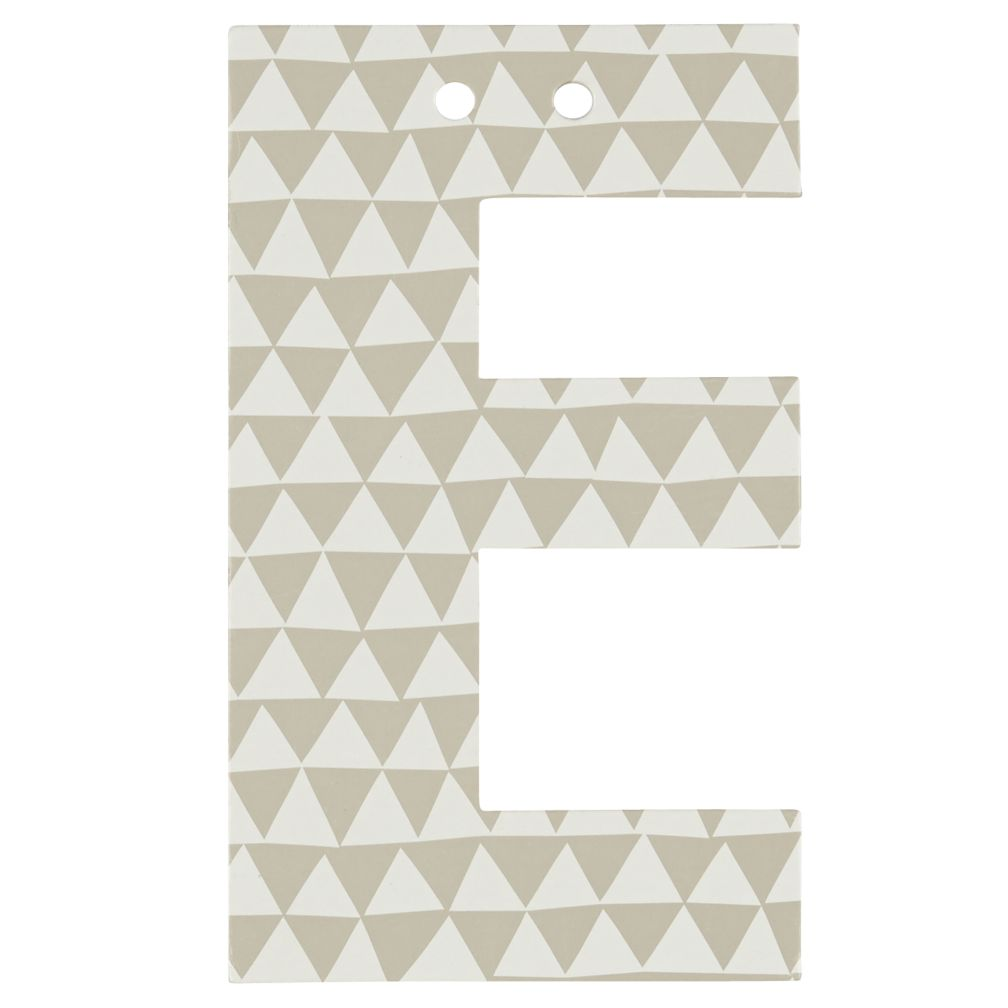 'E' Perfect Pattern Boy Letter
