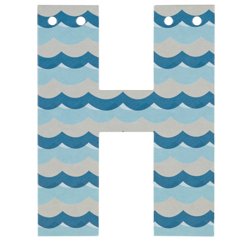 'H' Perfect Pattern Boy Letter