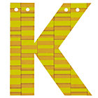 'K' Perfect Pattern Boy Letter